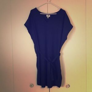 Blue T-shirt dress